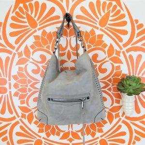 Rebecca Minkoff Soft Gray Leather Hobo Purse